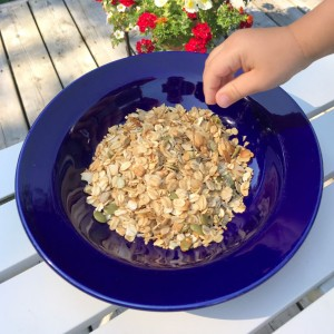 Even our toddler, Koji, likes his Noona's Granola Recipe!
